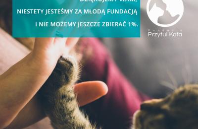 Niestety nie możemy jeszcze zbierać 1%
