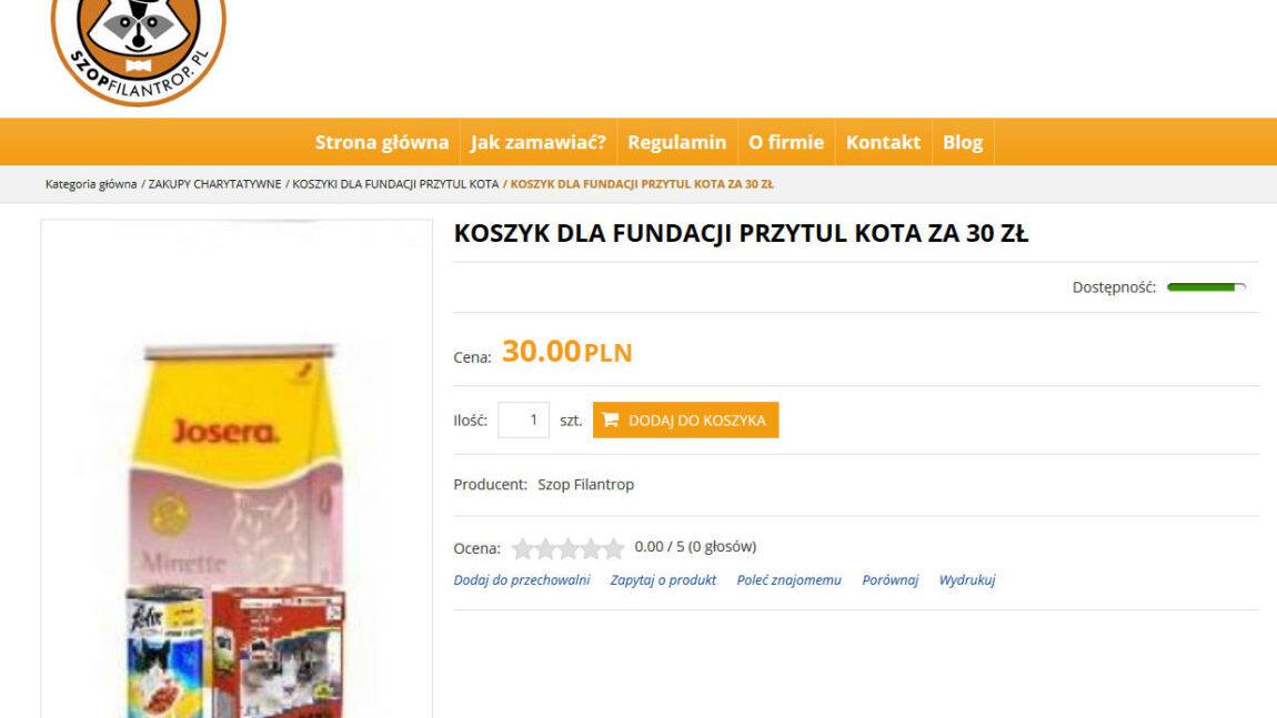 Zrób zakupy w shopfilantrop.pl – wesprzyj naszą Fundację