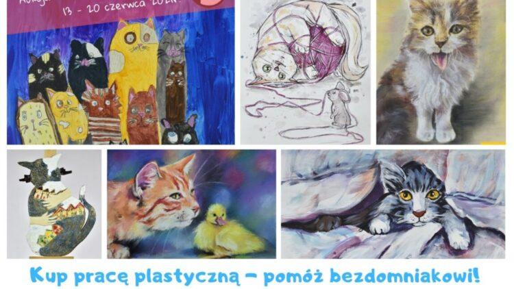 Aukcja prac uczestników I Ogólnopolskiego Konkursu Plastycznego KOCI ŚWIAT